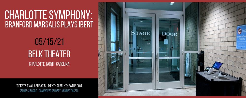Charlotte Symphony: Branford Marsalis Plays Ibert at Belk Theater