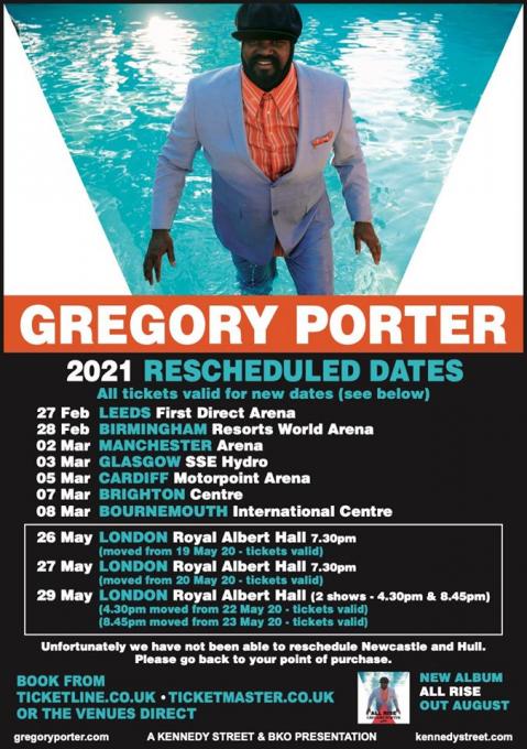 Gregory Porter at Belk Theater