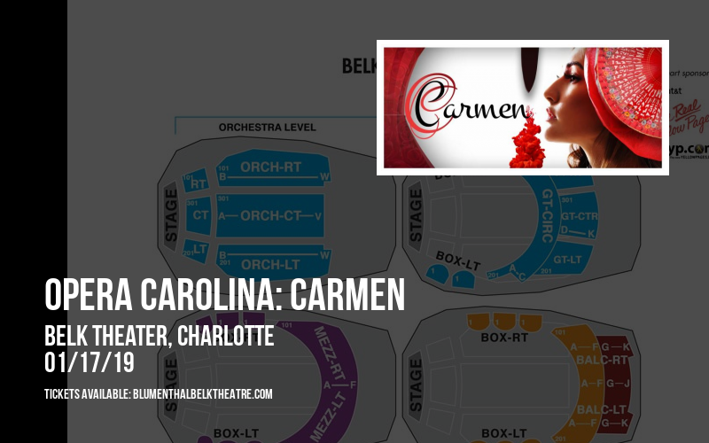 Opera Carolina: Carmen at Belk Theater