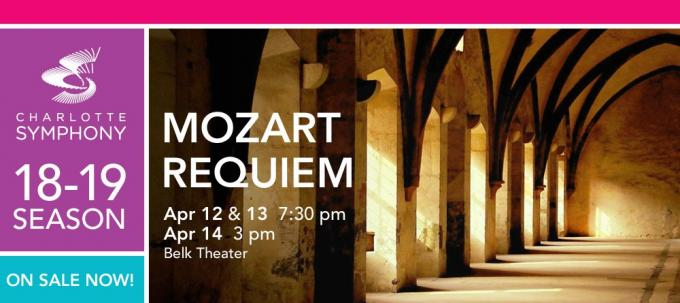 Charlotte Symphony: Mozart Requiem at Belk Theater